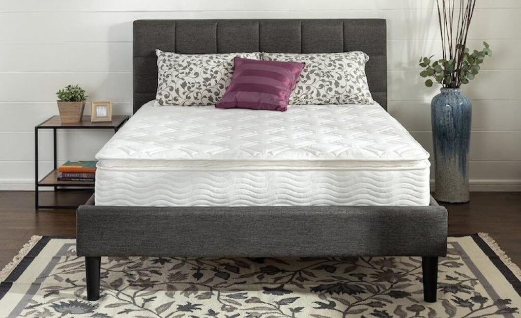 pillow top mattress review zinus
